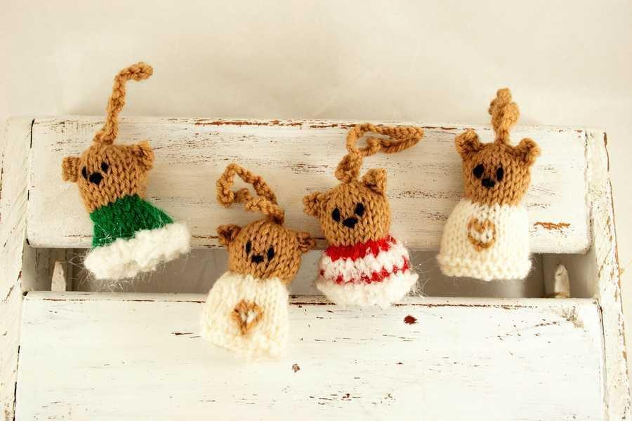 Orsetti da appendere in pura lana vergine