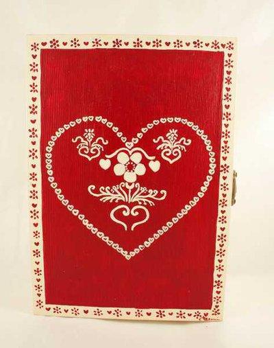 Portachiavi in legno da appendere con decorazione natalizia dipinto a mano