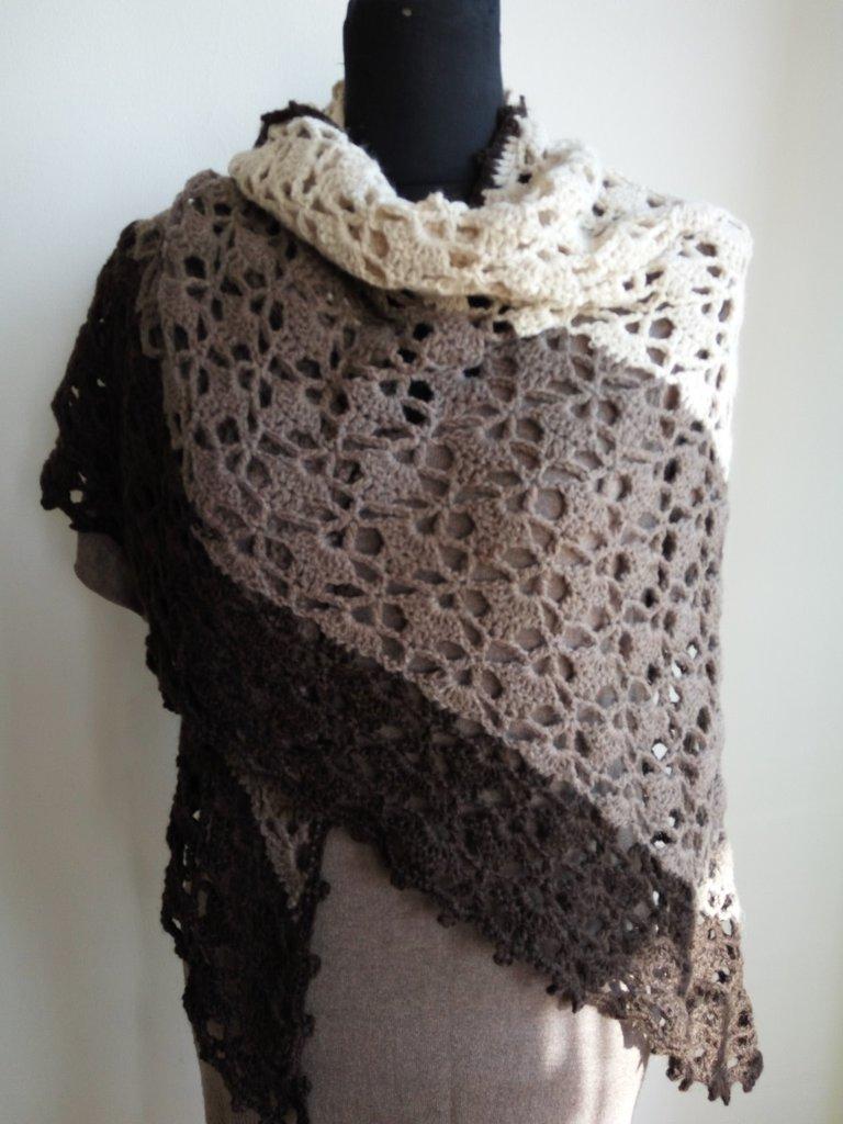 Scialle - sciarpa in lana fatta a mano