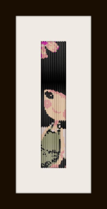 PDF schema bracciale Bimba in stitch peyote pattern - solo per uso personale