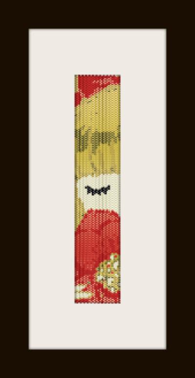 PDF schema bracciale Bimba bionda in stitch peyote pattern - solo per uso personale