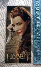 LO HOBBIT, The Hobbit, segnalibro, bookmark, Tauriel, Evangeline Lilly, elfo, fantasy