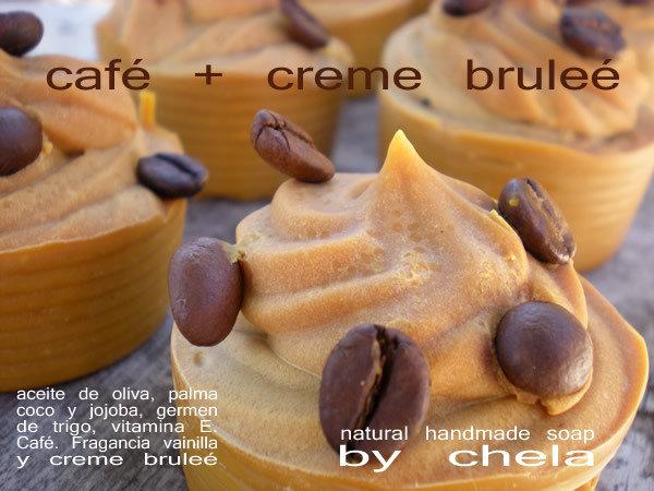 Café + Crema Bruleé - jabón proceso en frío