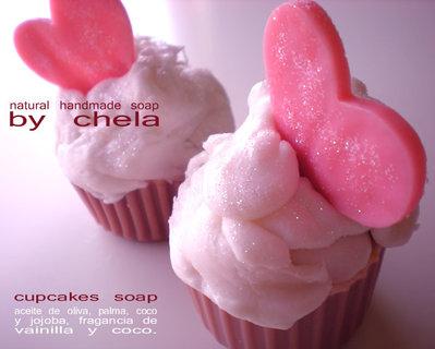 Cupcake Corazón - jabón de glicerina