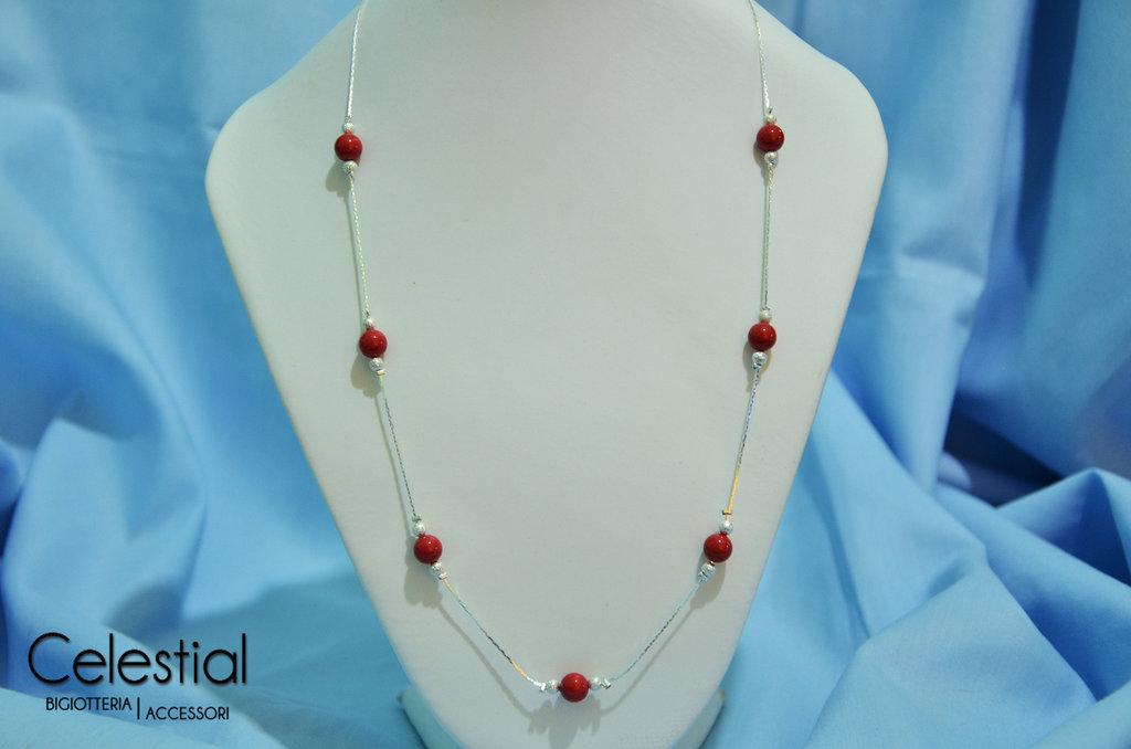 Collana corta Giro Di Perle - Red Coral
