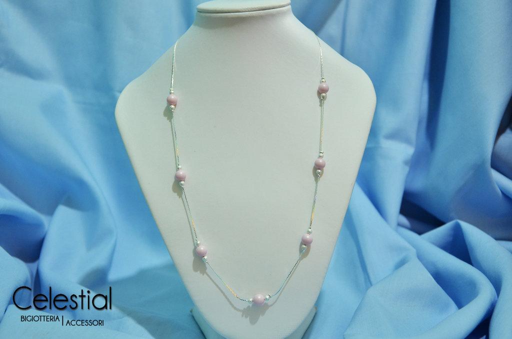 Collana corta Giro di Perle - Pastel Rose