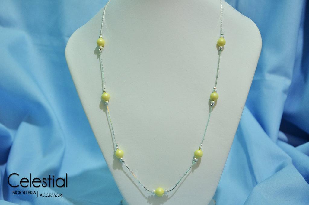 Collana corta Giro Di Perle - Pastel Yellow