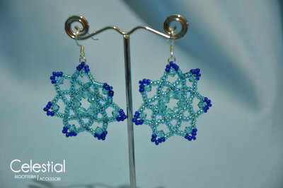 Orecchini Fiore - Azzurro