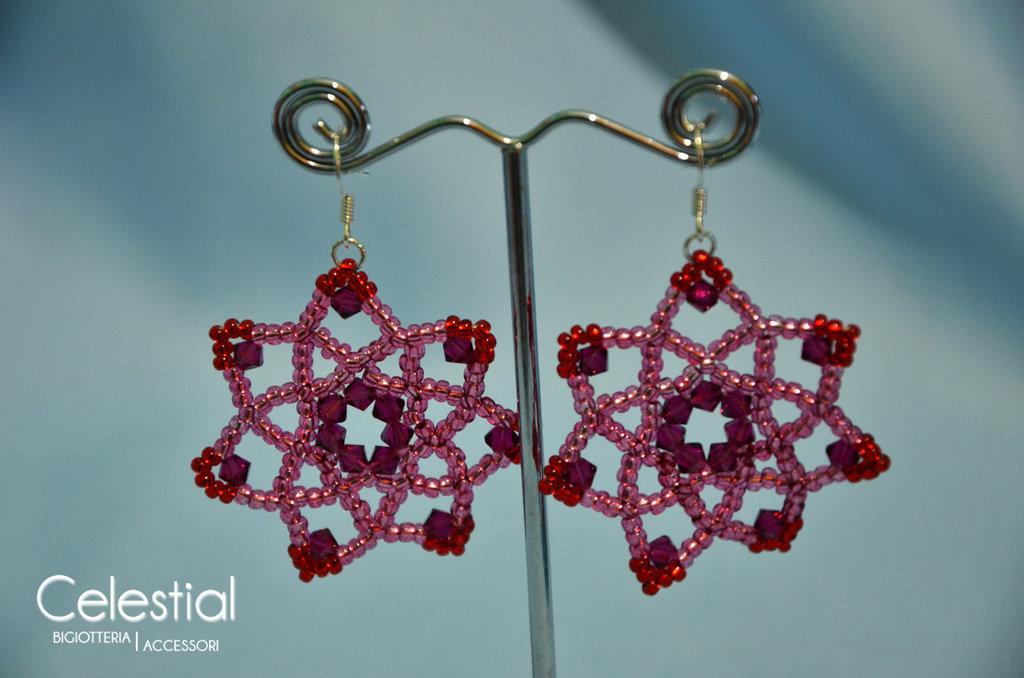 Orecchini Fiore - Ruby