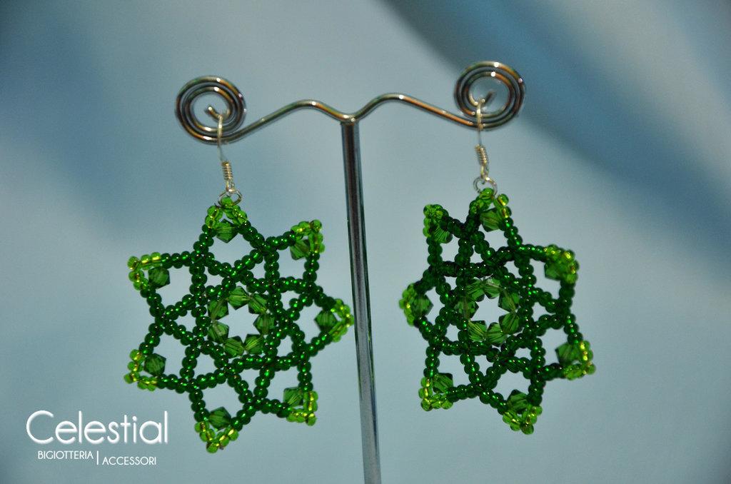 Orecchini Fiore - Fern Green