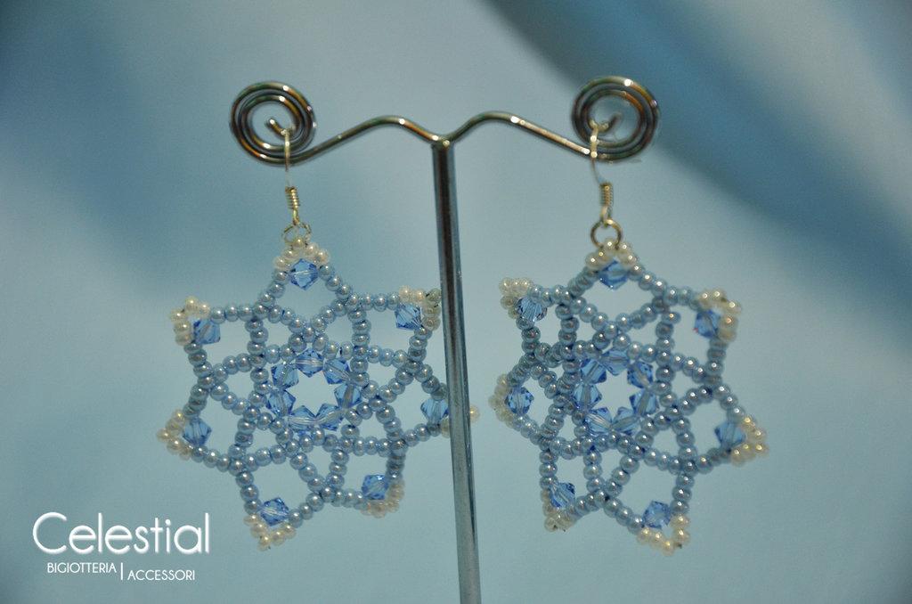 Orecchini Fiore - Light Sapphire