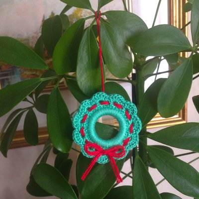 Mini Ghirlanda Di Natale Verde E Rossa Decorazione Natalizia Fatt