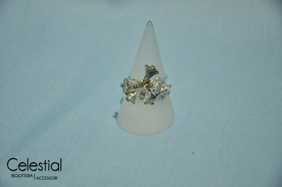 Anello Flower Cup - Silver