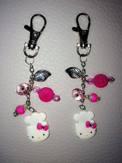 Portac chiavi Hello Kitty Cuoca con Charms