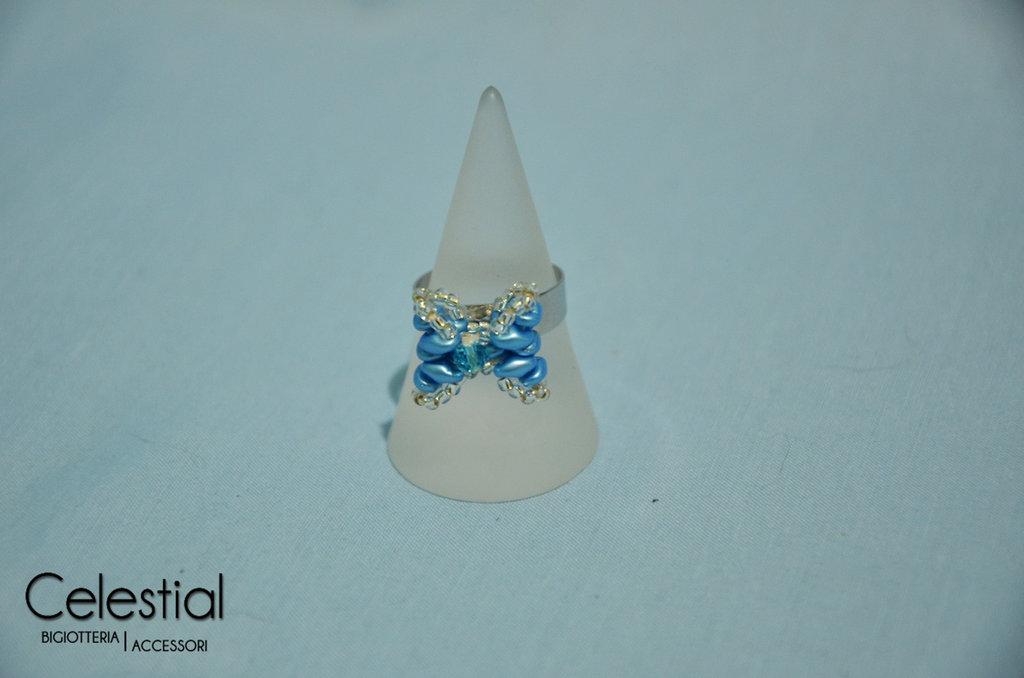 Anello Fiocco - Azzurro