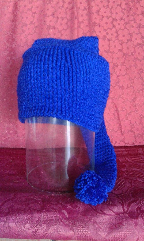 cappello di lana bambino lavorato ad uncinetto