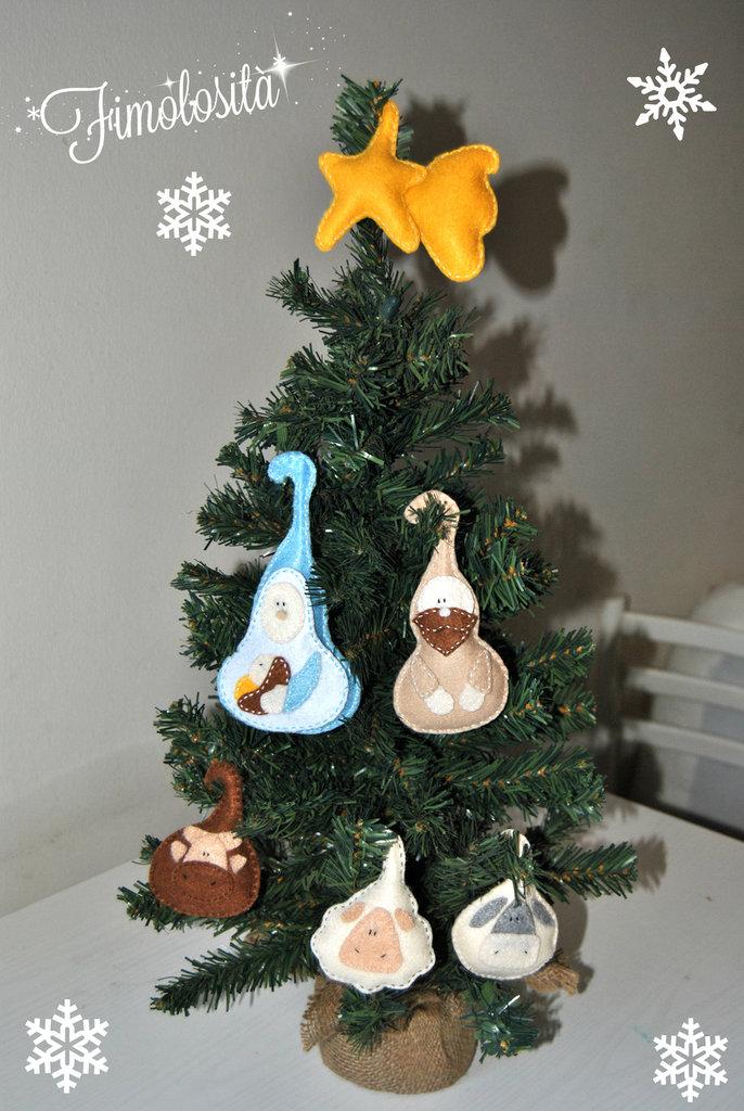 Natività per albero di Natale in pannolenci :)