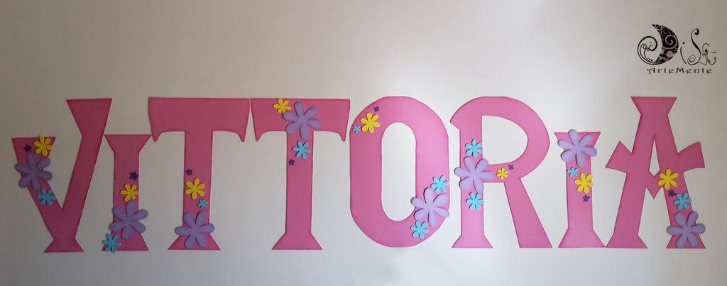 banner name personalizzabili decorazione cameretta bambini adesive ...