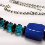 Collana  blu su cialda nespresso
