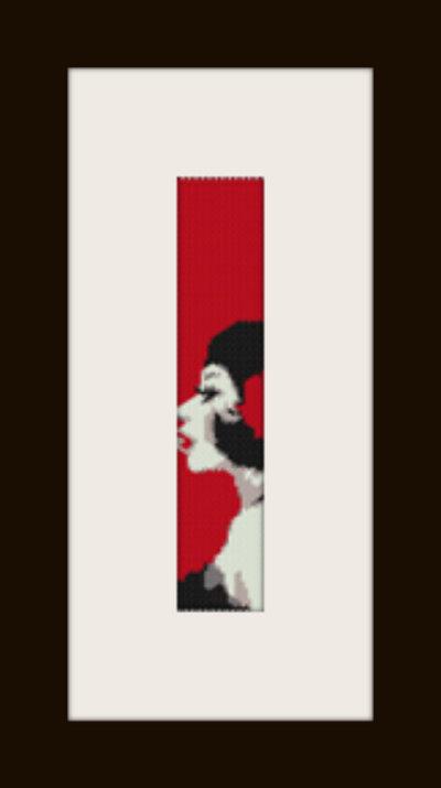 PDF schema bracciale Dama red in stitch peyote pattern - solo per uso personale