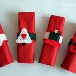 Porta tovaglioli natalizi set fatto a mano in Plastic canvas, regali Natale