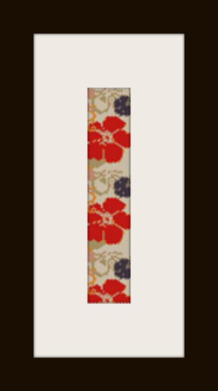 PDF schema bracciale Fiore rosso in stitch peyote pattern - solo per uso personale