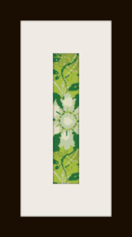 PDF schema bracciale Fiore verde in stitch peyote pattern - solo per uso personale