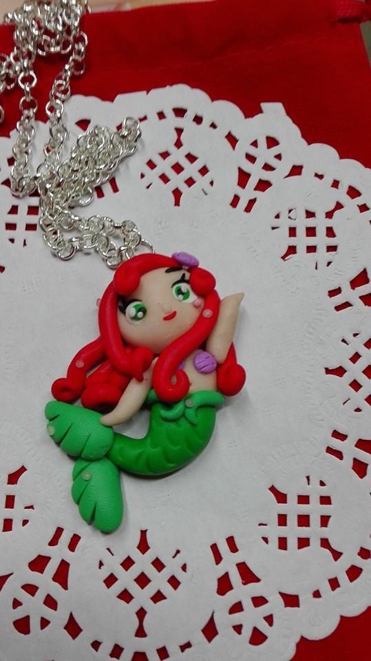 Collana Ariel la sirenetta in fimo