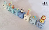 Cubi nome decorativi idea regalo decorazione cameretta bimbo personalizzabili