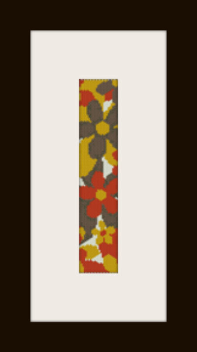 PDF schema bracciale Fiori autunnali in stitch peyote pattern - solo per uso personale