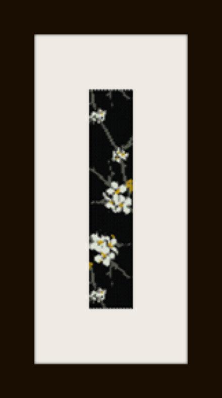 PDF schema bracciale Fiori bianchi in stitch peyote pattern - solo per uso personale