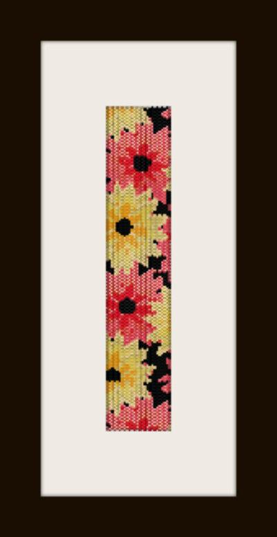 PDF schema bracciale Fiori d autunno in stitch peyote pattern - solo per uso personale