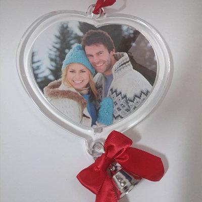Addobbo natalizio a forma di cuore personalizzabile
