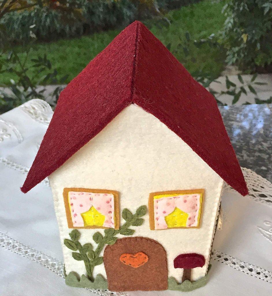 Porta box per fazzeletti di carta a forma di casetta