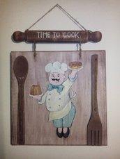 decorazione cucina in legno