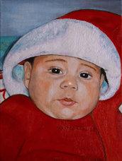 Ritratto su commissione olio su tela bambini