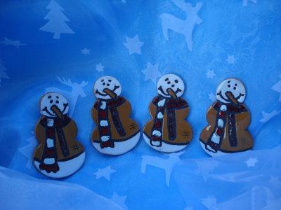 pupazzi di neve in ceramica