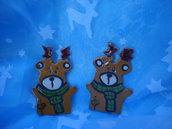 renne natalizie in ceramica