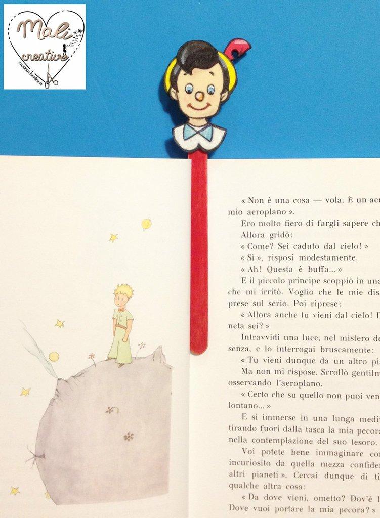 """Segnalibro """"stanghetta"""" Pinocchio in gomma crepla"""