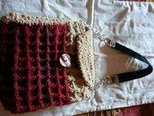 borsa uncinetto ciniglia e lana
