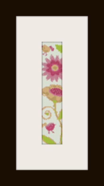 PDF schema bracciale Fiori e pulcini in stitch peyote pattern - solo per uso personale