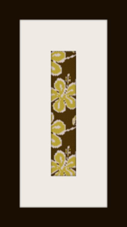 PDF schema bracciale Fiori gialli in stitch peyote pattern - solo per uso personale