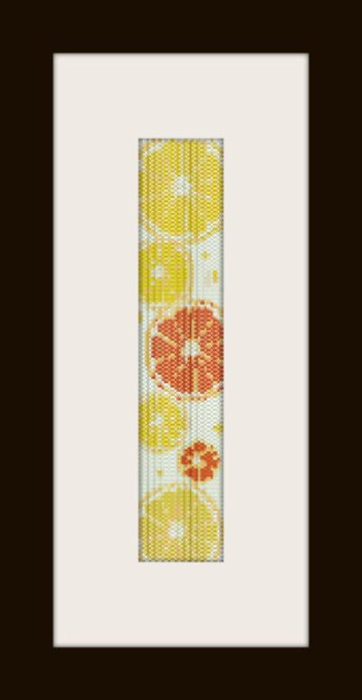 PDF schema bracciale Frutta in stitch peyote pattern - solo per uso personale