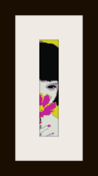 PDF schema bracciale Girl1 in stitch peyote pattern - solo per uso personale