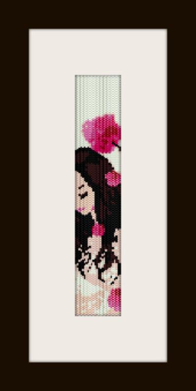 PDF schema bracciale Girl4 in stitch peyote pattern - solo per uso personale