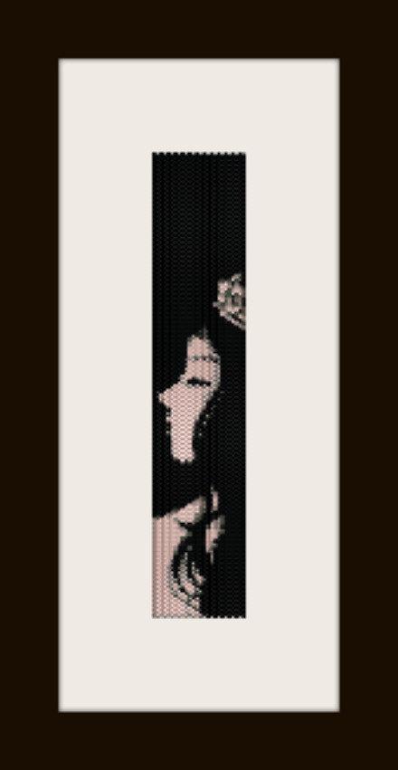 PDF schema bracciale Girl7 in stitch peyote pattern - solo per uso personale