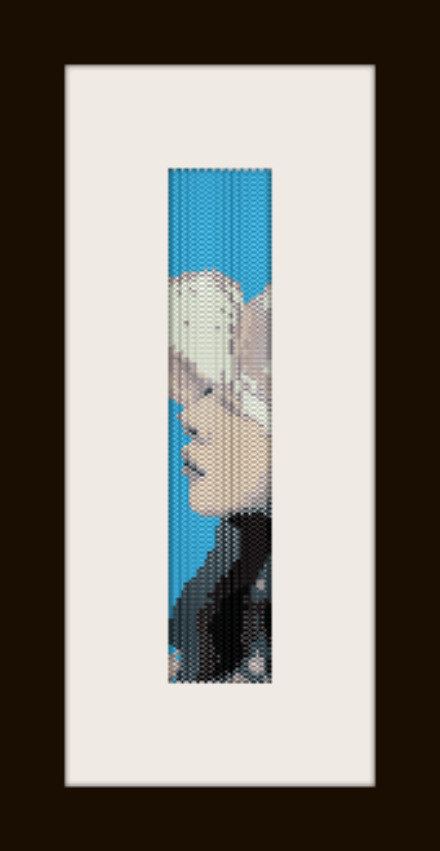 PDF schema bracciale Girl8 in stitch peyote pattern - solo per uso personale