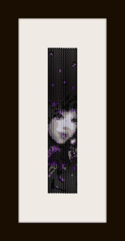 PDF schema bracciale Girl9 in stitch peyote pattern - solo per uso personale