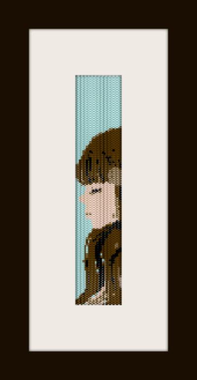 PDF schema bracciale Girl11 in stitch peyote pattern - solo per uso personale