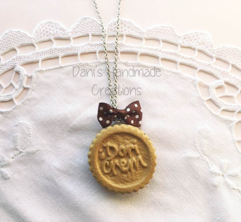 Collana biscotto Dori Crem